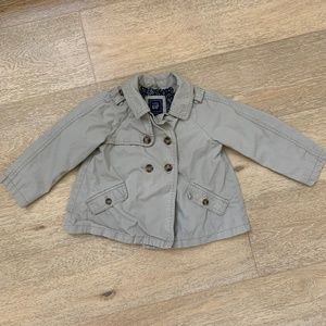 Baby Gap floral lined trench coat 4T